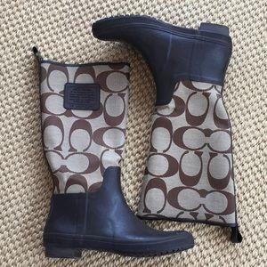 """Coach """"Paige"""" rain boots"""